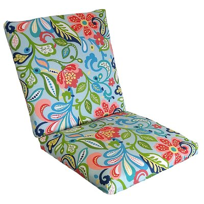 Wildwood Outdoor Lounge Chair Cushion Fabric: Opal