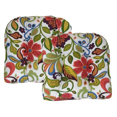 Wildwood Outdoor Dining Chair Cushion Fabric: Garden