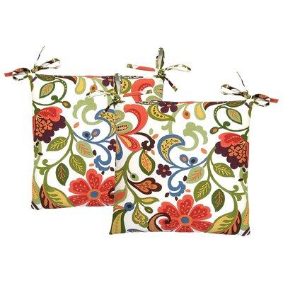 Wildwood Outdoor Dining Chair Cushion Fabric: Garden