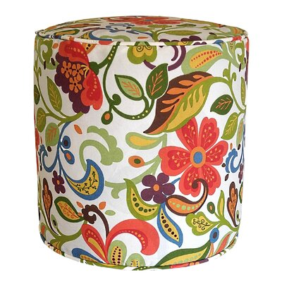 Wildwood Outdoor Pouf Ottoman Fabric: Garden