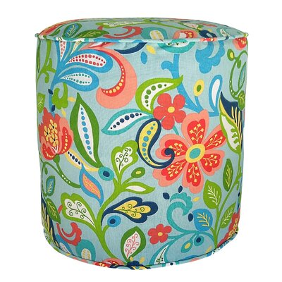 Wildwood Outdoor Pouf Ottoman Fabric: Opal