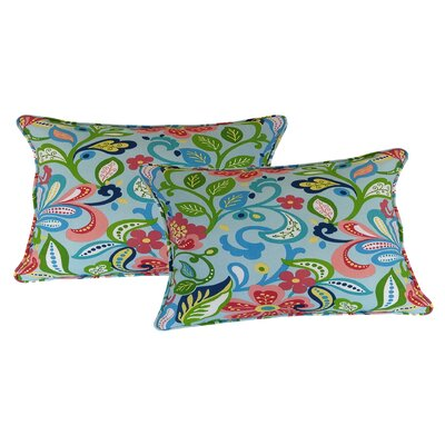 Wildwood Lumbar Pillow Color: Opal