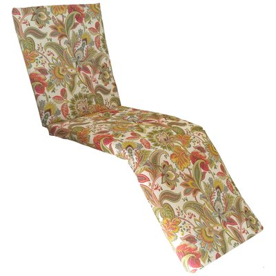 Valbella Outdoor Chaise Lounge Cushion Fabric: Fiesta
