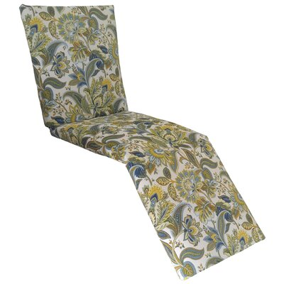 Valbella Outdoor Chaise Lounge Cushion Fabric: Provence