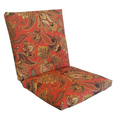 Valbella Outdoor Lounge Chair Cushion Fabric: Blaze