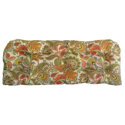Valbella Tufted Outdoor Bench Cushion Fabric: Fiesta