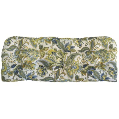 Valbella Tufted Outdoor Bench Cushion Fabric: Provence