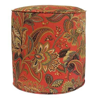 Valbella Outdoor Pouf Ottoman Fabric: Blaze