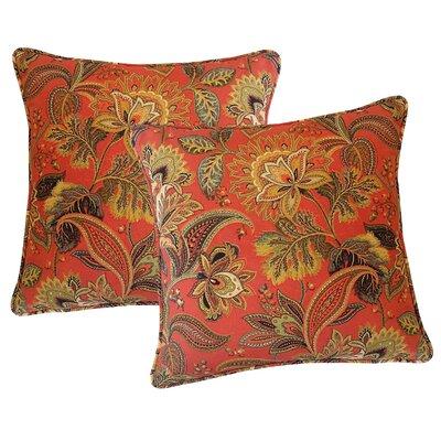 Valbella Outdoor Throw Pillow Color: Blaze