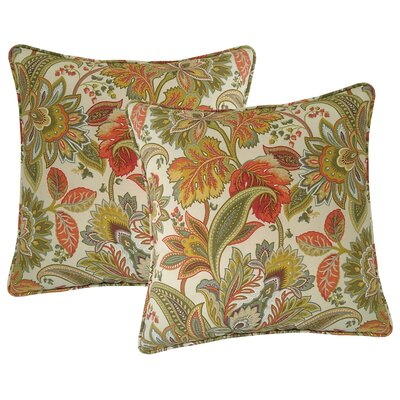 Valbella Outdoor Throw Pillow Color: Fiesta