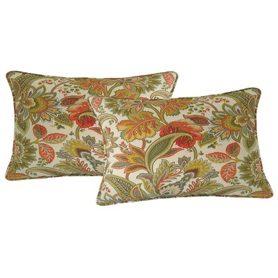 Valbella Outdoor Lumbar Pillow Color: Fiesta