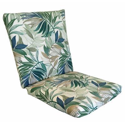 Emmi Lounge Chair Cushion Fabric: Chambray