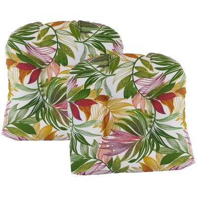 Emmi Tufted Dining Chair Cushion Fabric: Garden