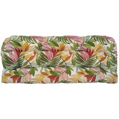Emmi Tufted Bench Cushion Fabric: Garden