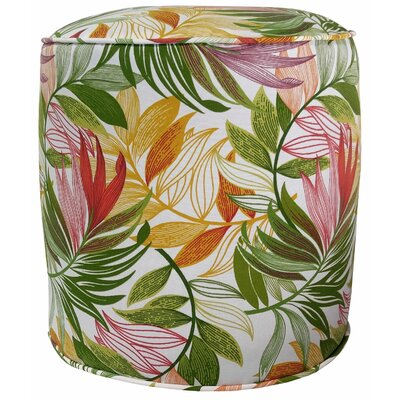 Emmi Outdoor Pouf Ottoman Finish: Garden