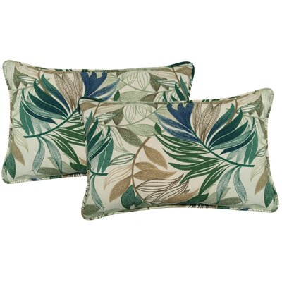 Arin Indoor/Outdoor Lumbar Pillow Color: Chambray