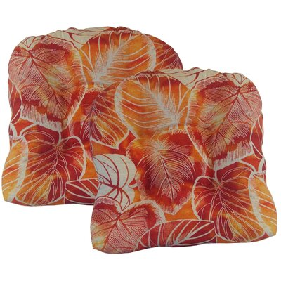 Elyssa Tufted Dining Chair Cushion Fabric: Cayenne
