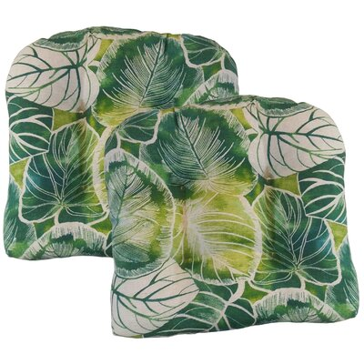 Elyssa Tufted Dining Chair Cushion Fabric: Lagoon