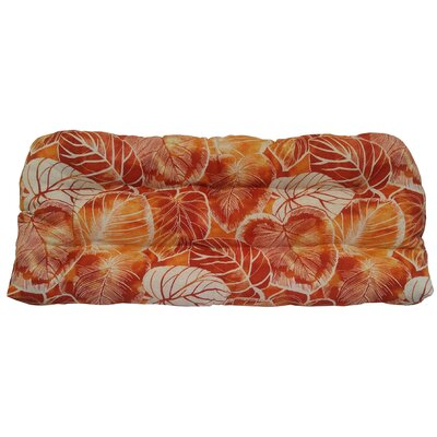 Elyssa Tufted Bench Cushion Fabric: Cayenne