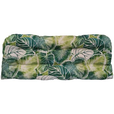 Elyssa Tufted Bench Cushion Fabric: Lagoon