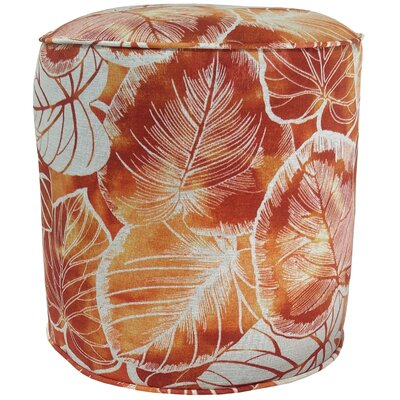 Elyssa Pouf Ottoman Fabric: Cayenne