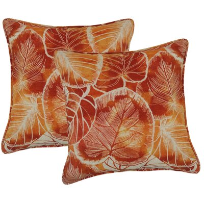 Elyssa Indoor/Outdoor Throw Pillow Color: Cayenne