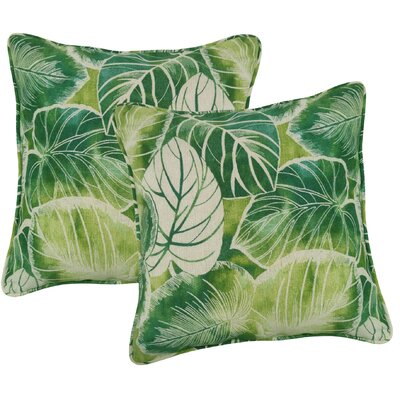 Elyssa Indoor/Outdoor Throw Pillow Color: Lagoon