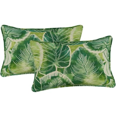 Elyssa Indoor/Outdoor Lumbar Pillow Color: Lagoon