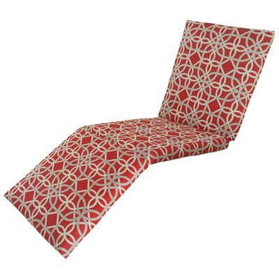 Ravensdale Outdoor Chaise Lounge Cushion Fabric: Cherry