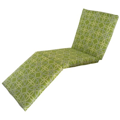 Ravensdale Outdoor Chaise Lounge Cushion Fabric: Kiwi