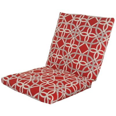 Ravensdale Outdoor Lounge Chair Cushion Fabric: Cherry