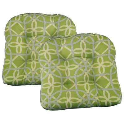 Ravensdale Tufted Outdoor Dining Chair Cushion Fabric: Kiwi
