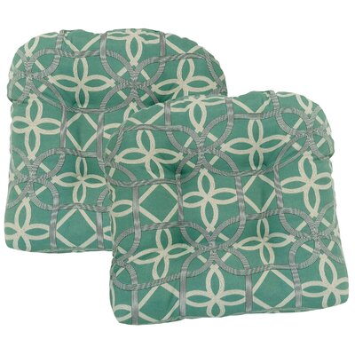 Ravensdale Tufted Outdoor Dining Chair Cushion Fabric: Pool