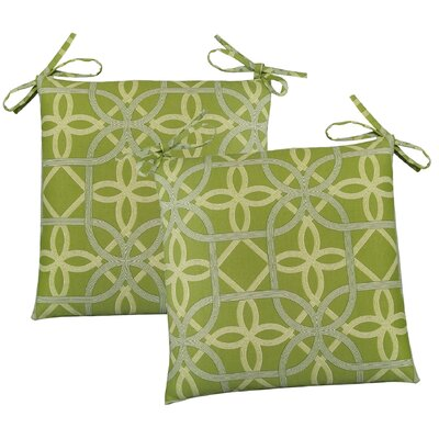 Ravensdale Outdoor Dining Chair Cushion Fabric: Kiwi