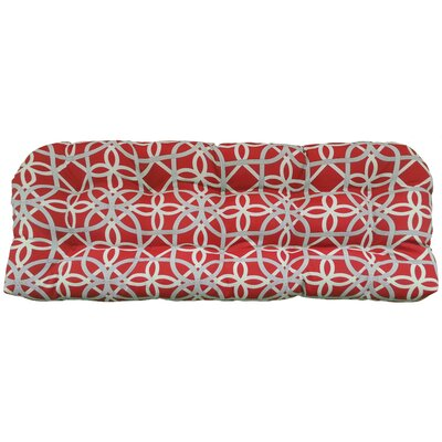 Ravensdale Tufted Outdoor Bench Cushion Fabric: Cherry