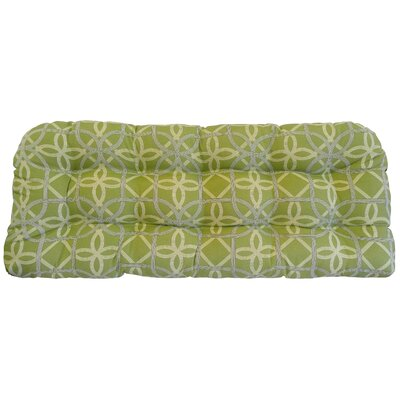 Ravensdale Tufted Outdoor Bench Cushion Fabric: Kiwi