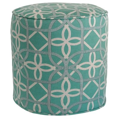 Ravensdale Outdoor Pouf Ottoman Fabric: Pool