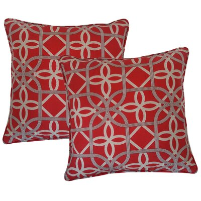 Marissa Indoor/Outdoor Throw Pillow Color: Cherry