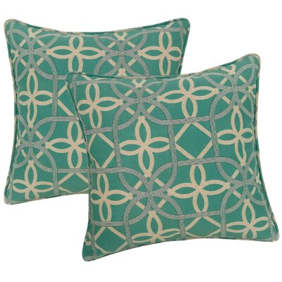 Marissa Indoor/Outdoor Throw Pillow Color: Pool