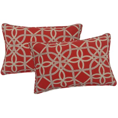 Ravensdale Indoor/Outdoor Lumbar Pillow Color: Cherry