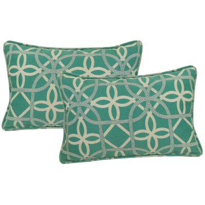 Marissa Indoor/Outdoor Lumbar Pillow Color: Pool