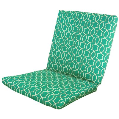 Odele Outdoor Lounge Chair Cushion Fabric: Peacock