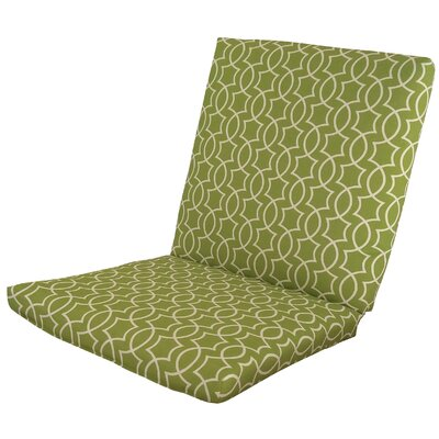Odele Outdoor Lounge Chair Cushion Fabric: Kiwi