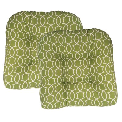 Odele Tufted Outdoor Dining Chair Cushion Fabric: Kiwi