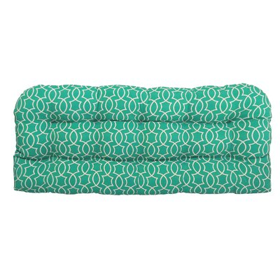 Odele Tufted Outdoor Bench Cushion Fabric: Peacock
