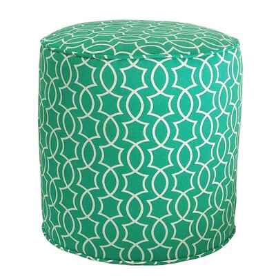 Odele Outdoor Pouf Ottoman Fabric: Peacock