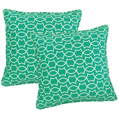Odele Outdoor Throw Pillow Color: Peacock