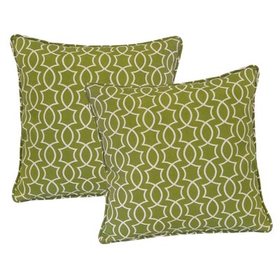 Maryville Outdoor Throw Pillow Color: Kiwi