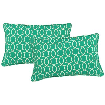Maryville Indoor/Outdoor Lumbar Pillow Color: Peacock