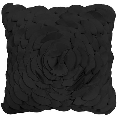 Soltero Peony Indoor/Outdoor Throw Pillow Color: Black